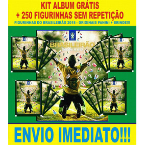 Álbum Grátis +250 Figurinhas Sem Repetição -brasileirao 2018