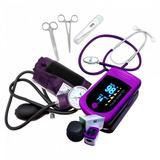 Tensiometro + Kit De Enfermería + Oximetro De Pulso Led