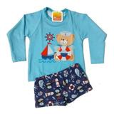 Conjunto Camisa Sunga Proteção Solar Uv 50+ Bebê Infantil