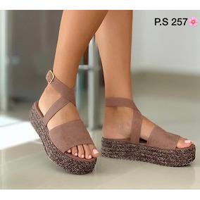 Hermosas Sandalias De Plataforma