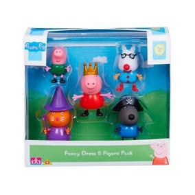 Conjunto De 5 Bonecos Figuras Amigos Da Peppa Pig - Dtc 6 Cm