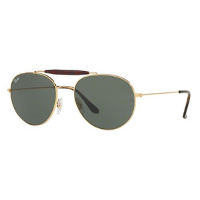 Oculos Solar Ray Ban Rb3540 001 56mm Dourado Lente Verde G15 ea8ec42c94