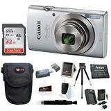 Canon Powershot Elph 180 20 Mp Digital Camera (silver) + Son