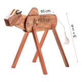 Vaca Parada Madeira Laço Laçar Corda Só Hoje Promoção