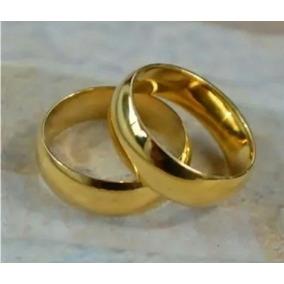 Par Alianças Anel Aço Inox Cirúrgico Namoro Compromisso Ouro