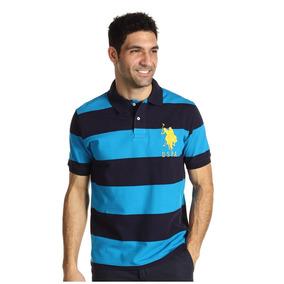 Camiseta U.s. Polo Assn 2 Color Wide Stripe Deleted 6f47378e76bc8