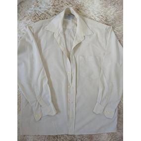 Camisa Social Masculina Linho Usada 41 42