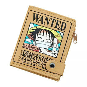 One Piece Cartera Envio Gratis Wanted Luffy Billetera Zoro