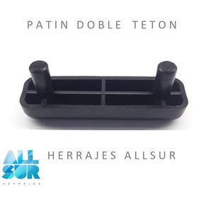 Patin Plastico Doble Teton 45mm Cod:1086
