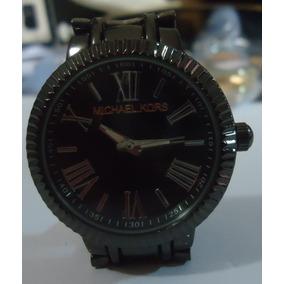 Relógio M K Mostrador Preto Pulseira Série Black