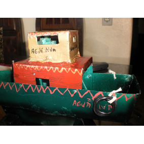 Barco De Lata De Brinquedo