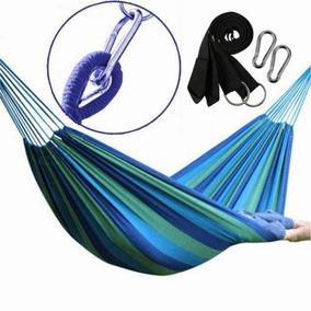 Hamaca Doble 2 Persona Exterior Lona Tela Swing Camping-9179