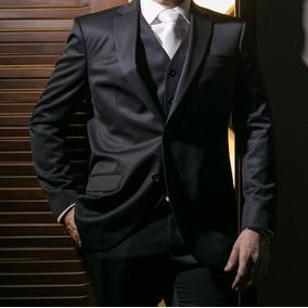 Terno Ricardo Almeida(blazer, Calça,colete E Gravata) Preto