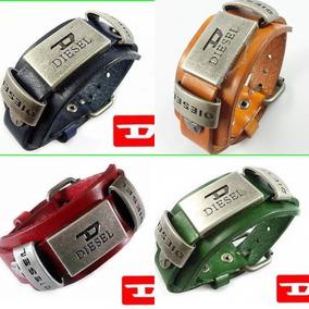 4 Pulseiras Diesel (4 Cores Diferentes) Fashion - Unissex