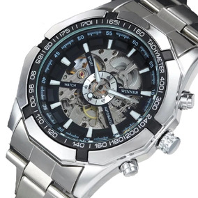 Relógio Winner Luxo Automático Promoção + Brinde