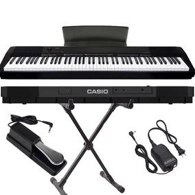 Piano Digital Casio Cdp-135 Bk C/ Pedal Sustain+suporte Pro