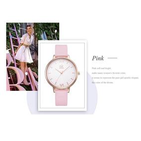 Relógio Feminino De Pulso Modelo Clássico Shengke Rosa