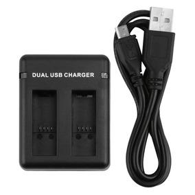 Carregador Duplo Dual Usb Charger Gopro Hero 5 6 Black