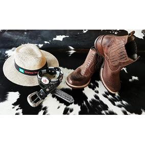Botina Bota Cowboy + Cinto Mangalarga + Chapéu Juta Promoção 82d98e1f1e9