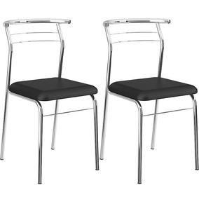 1291f2622b Cadeira Cromada Carraro - Cozinha no Mercado Livre Brasil