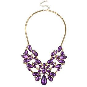 Tono Lux Accesorios Oro Collar Púrpura De Imitación De Tono