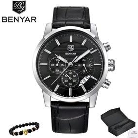 Relógio Benyar De Luxo Resistente Água Couro