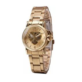 Relógio Feminino Winner Esqueleto Automático Coração