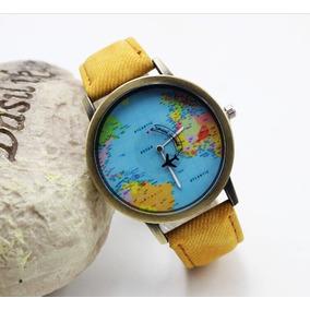 Reloj De Moda Mapamundi
