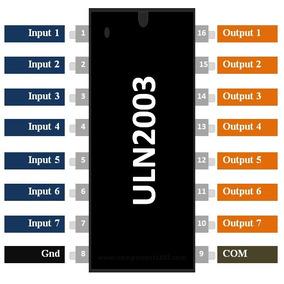 6 Unidades Driver Uln2003 Arduino