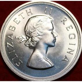 Moeda 5 Shillings 1953, Africa Do Sul, Prata, Nao Circulada.