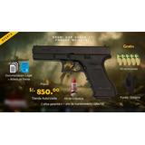 Pistola De Fogueo Bruni Gap Glock 17 + 10 Balas + Estuche