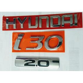Emblema Hyundai + I30+2.0 ( 2009 ...) 3 Peças Cromado