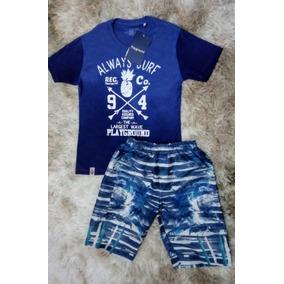Conjunto Infantil Menino Fakini Playground Com Camiseta