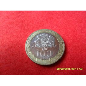 Chile 100 Pesos 2010 Bimetal Sob