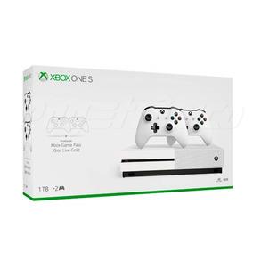 Console Xbox One S 1tb Com 2 Controles Branco - Lacrado
