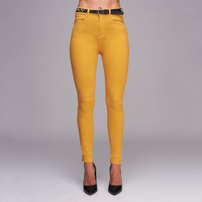 Jeans Casual Atmosphere Dnm 062a Amarillo Mostaza - 178599 8bcb2501ebcf