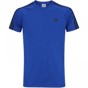 Camiseta Masculina adidas Ess 3s Egb Tee Tamanho M Azul