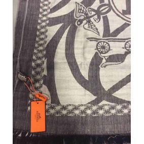 Bufanda Hermès Para Hombre Color Gris