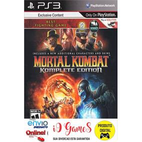 Mortal Kombat 9 Komplete Edition Jogo Ps3 Pt Br Envio Rapido
