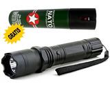 Lanterna Choque Policia 1800w Kit Barato+spray D Piment 60ml