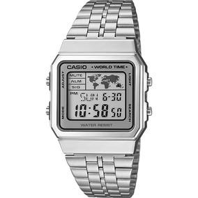 7e8f3f2a8f9 Relogio Casio Vintage Mapa Mundi - Relógios De Pulso no Mercado ...