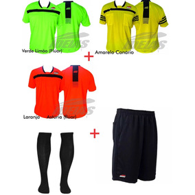 Kit 3 Camisas + Shorts + Meião Prof. Escolha As Cores