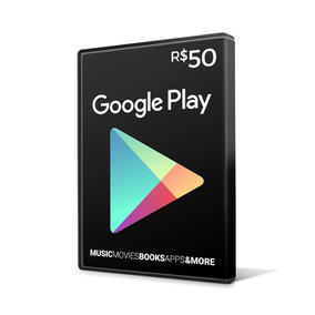 Cartão Google Play Gift Card 50 Reais Br Android Playstore