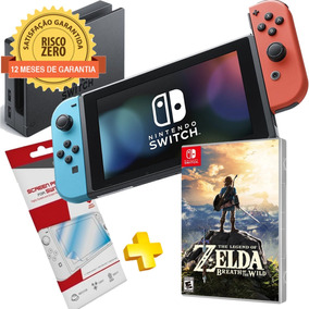 Nintendo Switch Neon + Jogo Zelda Breath Of The Wild