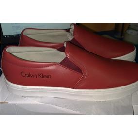 Calvin Klein Tênis Calvin Klein Iate Couro Vinho Novo