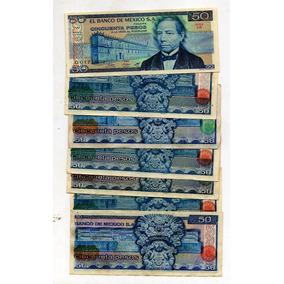 Billetes México Antiguo L 50 Pesos Juares Azul S12