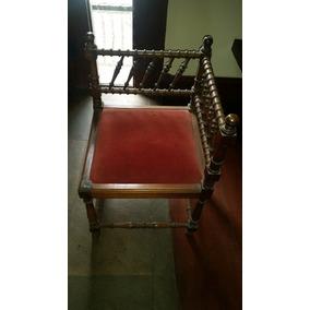 Decoração Antiga De Madeira Cadeira