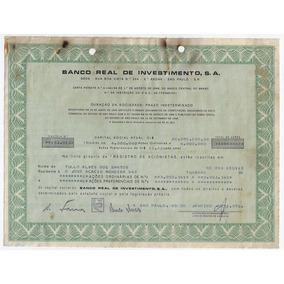 1972 Ação Ordinária E Preferencial Banco Real Investimentos