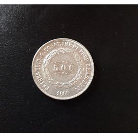 Moeda Prata 500 Reis Ano 1860