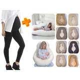 Calza Embarazada Maternal Con Faja+almohada Embarazada.*